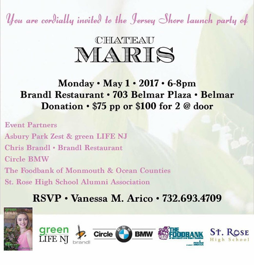 JERSEY SHORE LAUNCH PARTY OF CHATEAU MARIS WINE