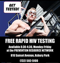 FREE RAPID HIV TESTING The Prevention Resource Network Asbury Park NJ