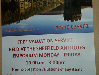 Free valuation service including buying every weekday 10.00am until 3.00pm.