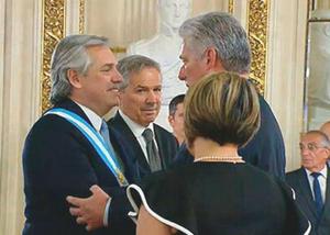 CUBAN PRESIDENT TRIP TO ARGENTINA