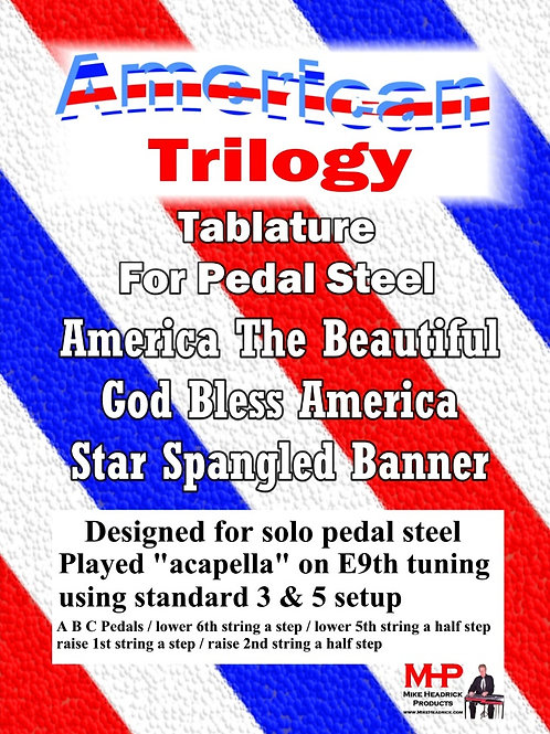 The American Trilogy For Pedal Steel - Hard Copy