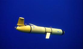 Figure 3: Slocum Glider deployed.