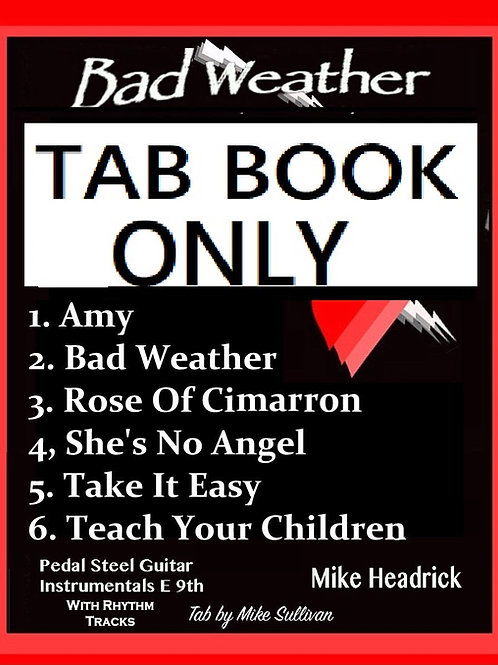 Bad Weather - Tab Book Only