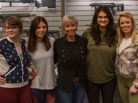 Birthday party for Alex Clark at the range with her best girlfriends! L-R Abigal Hall, Alex Clark, me, Sydney Sheridan and Kendall Jones