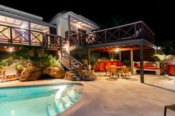 Moondance pool at night