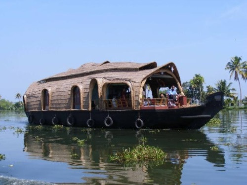 A Houseboat Amidst Coconut Groves
