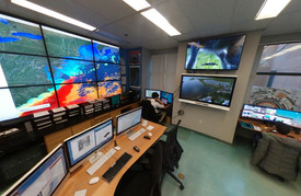 Figure 2: Rutgers University's Center for Ocean Observing Leadership (COOL) Mission Control Center for tracking and communication with deployed gliders.