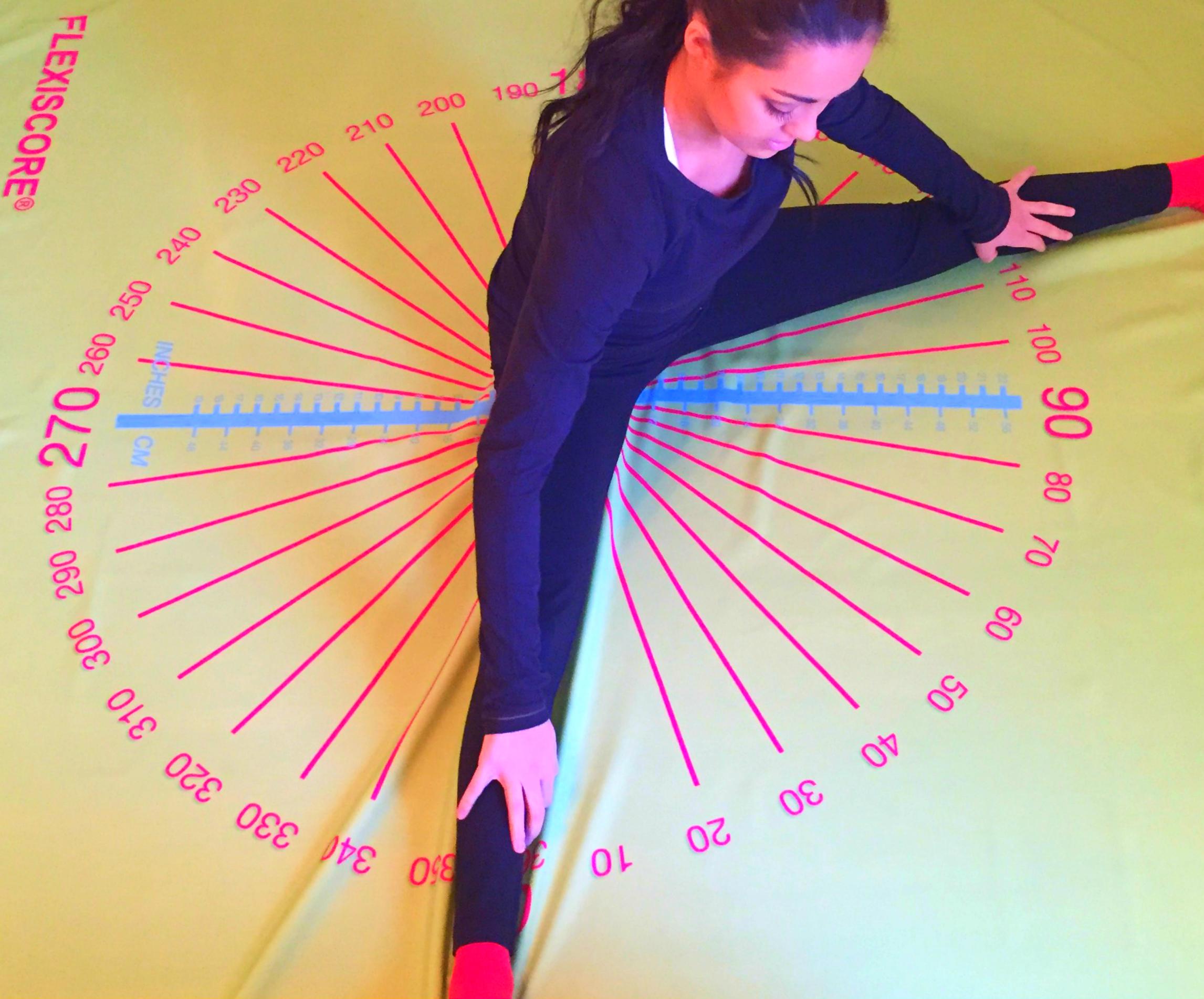Fitness tracker. Flexibility tester.