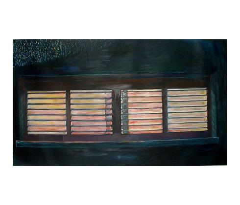 ציור שמן לסלון - ציור של תריסים