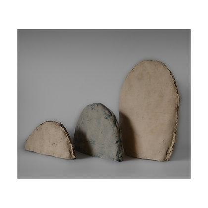 סט של 3 פסלים מחומר קרמי