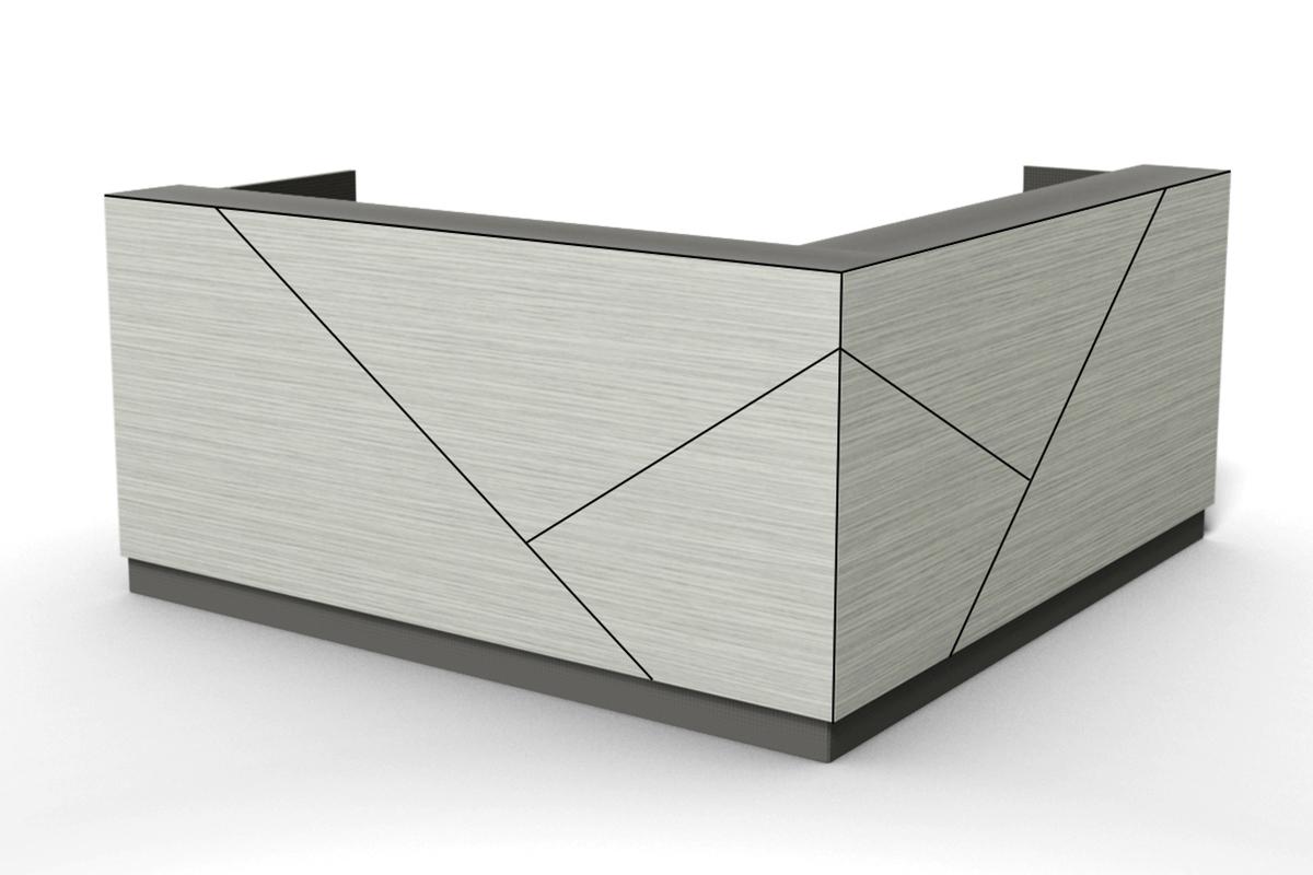 axis reception desk, design tile line C