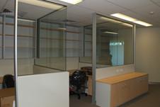 half glass / plasterboard wall