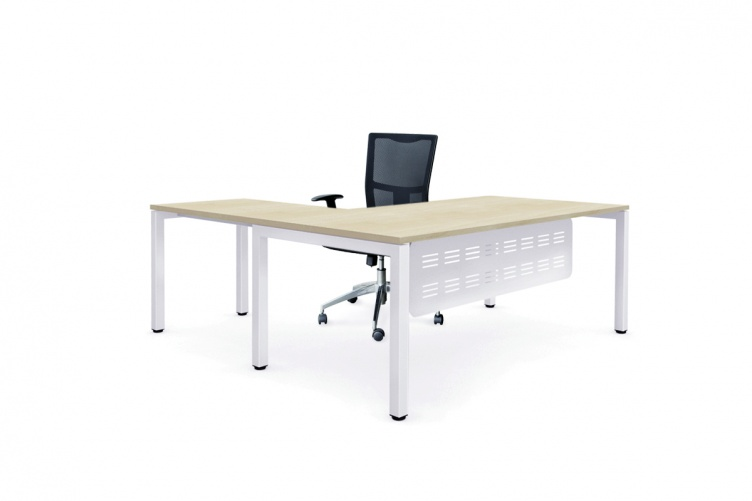 plaze executive desk, white frame with r