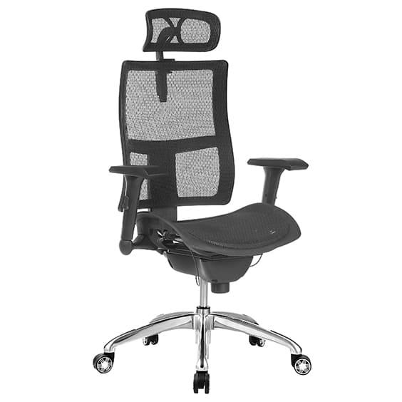 zodic high back, optional headrest