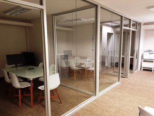 10.  Full height clear anodised glass walls and doors create an open feel to a smaller space