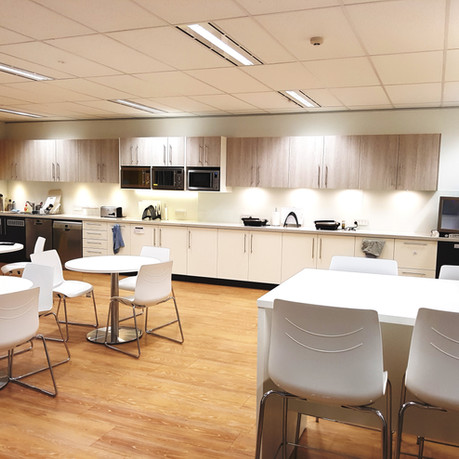 Hornsby:  This fitout was comprehensive and planned to perfection without an inch of space being wasted.  Function and practicality was the theme from installing cockpit style 1 piece desks with intermediate returns, to TV's on swinging arms, operable walls and storage all around.