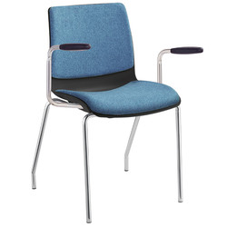 POD visitor chair with 4 legs, upholster