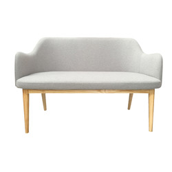 snow double seater in light grey with be