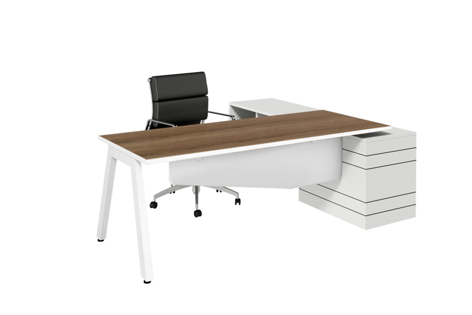 vista executive desk with storage
