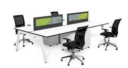 vista workstation with white frame