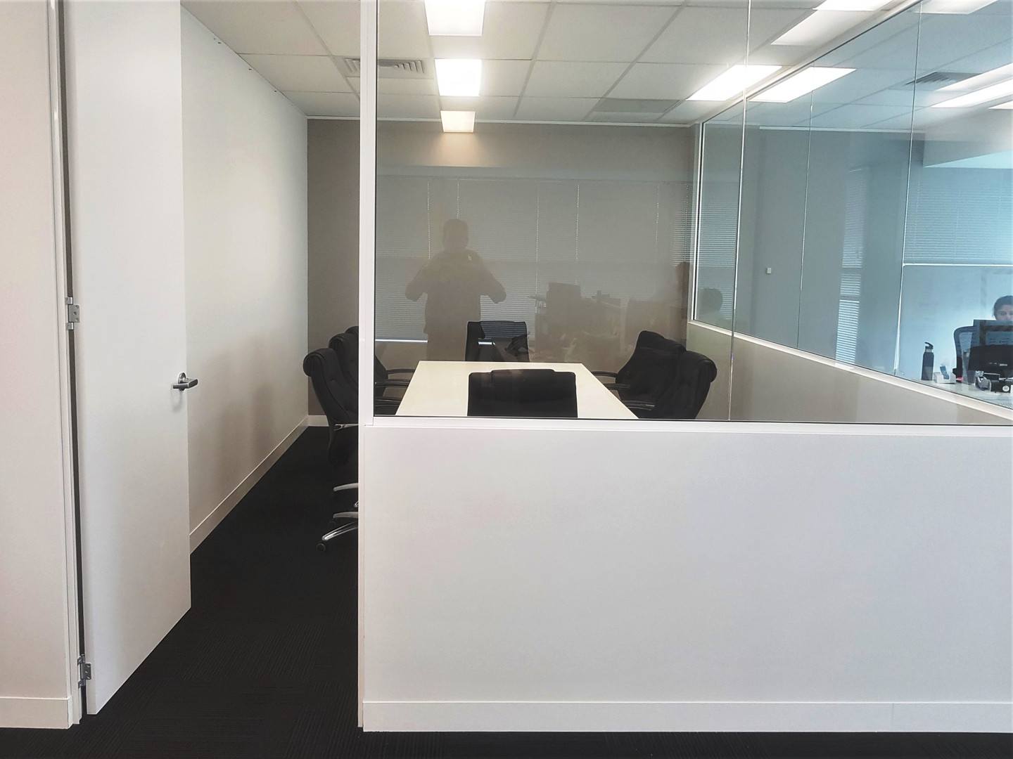 we can construct 1/2 glass walls to provide some privacy without losing light