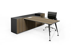 leto executive desk with buffet
