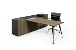 leto executive desk with buffet