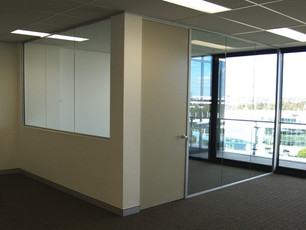 12.  Half glass and full height glass partitions