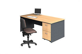 rectangular desk
