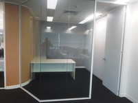 we can construct angled and curved glass partitions