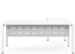 plaza executive desk, white frame