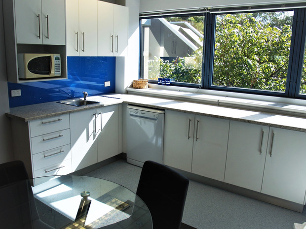 8.  Client - Rural Affinity:  this L shaped laminate kitchen makes best use of the space and provides additional bench space.