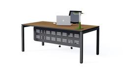plaza executive desk, black frame