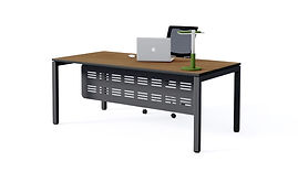 plaza executive desk, black frame
