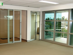 4.  Sliding glass and hinged aluminium framed doors