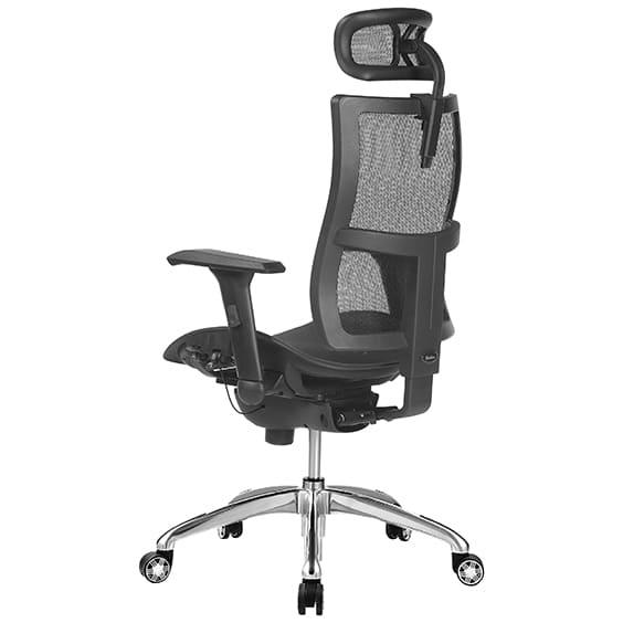 zodic high back, optional headrest, back