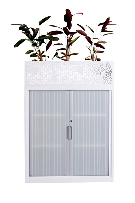tambour unit with planter box above