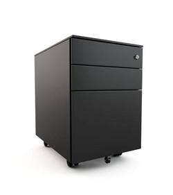 mobile pedestal in black