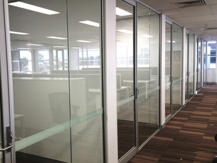 7.  Aluminium framed partitions & aluminium framed hinged doors
