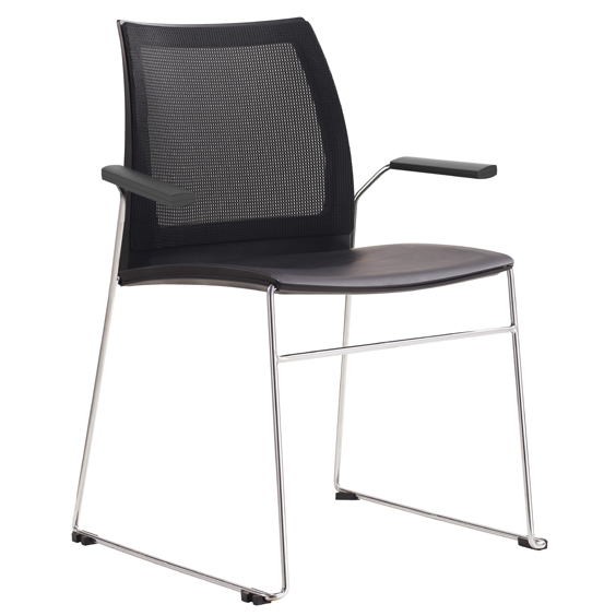 vinn training chair with mesh back, sled