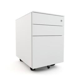 mobile pedestal in white