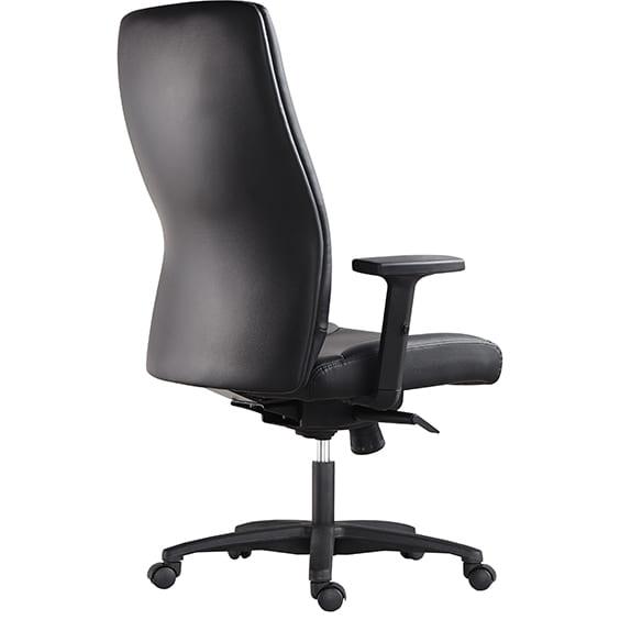 hilton high back chair back view