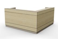 axis reception desk, design tile line F