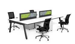 vista workstation with black frame
