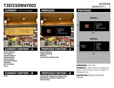 Signage design proposal