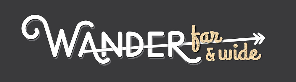 Wander Far & Wide lettering header and link to download