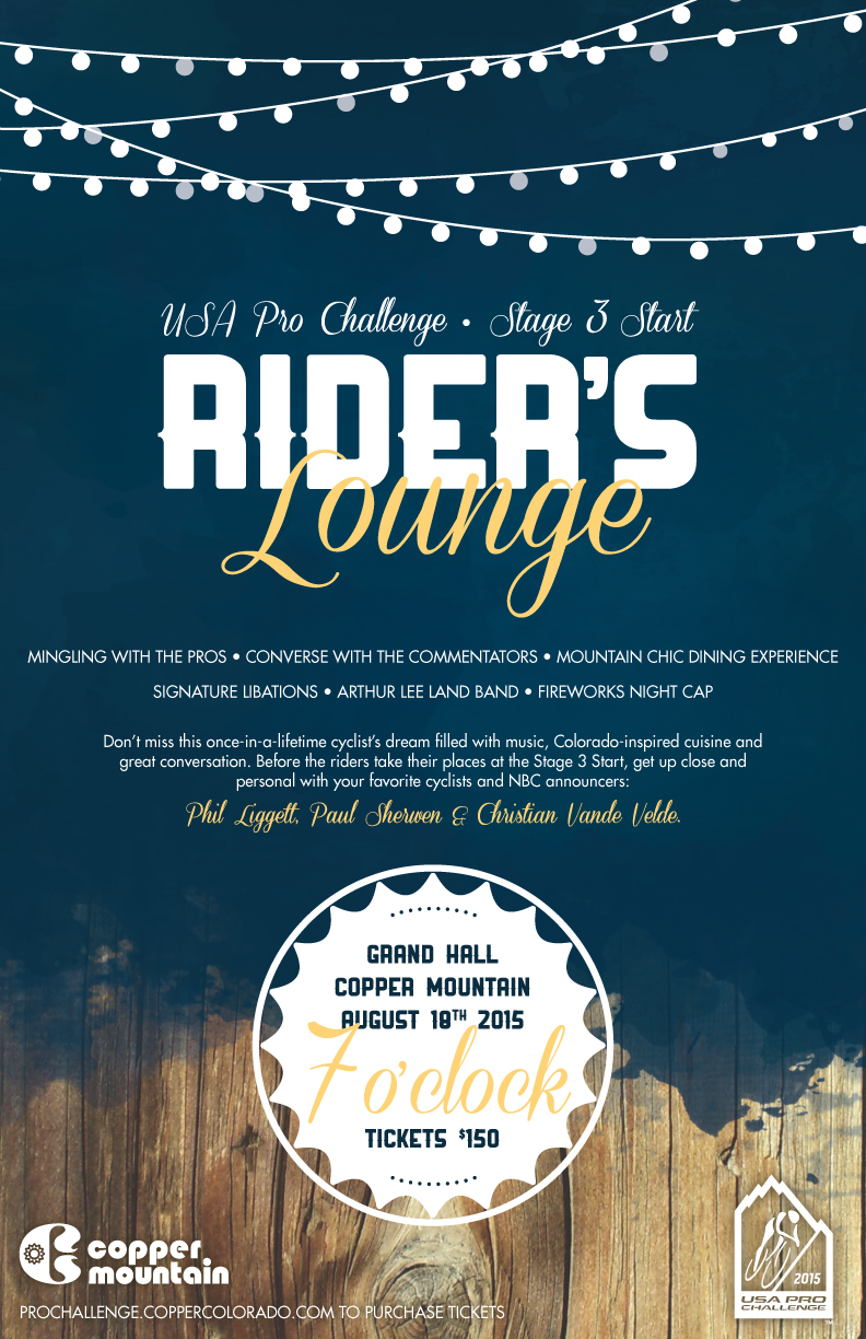 Rider's Lounge Event Poster