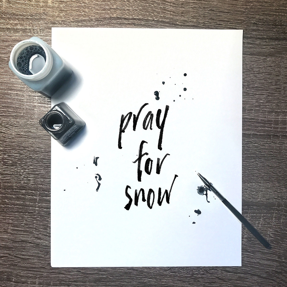 hand lettering by Elyse Schreiber
