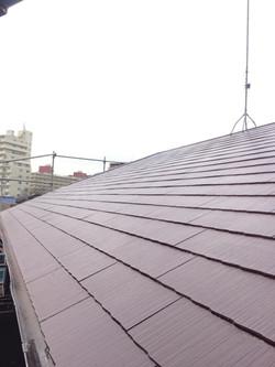 屋根仕上げ塗り後写真