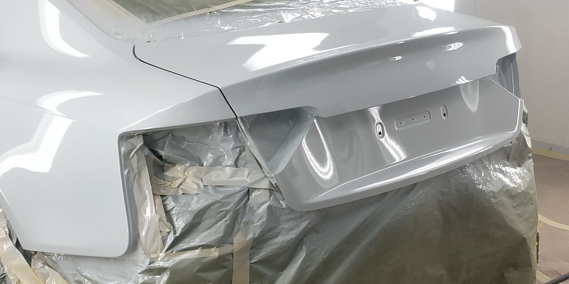 Rear end Audi S5 refinished